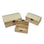 Μπαουλάκια ξύλινα σετ 3τεμαχίων