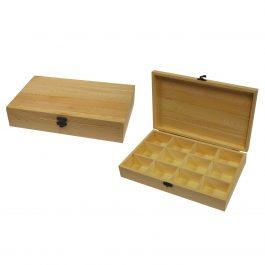 Θήκη ξύλινη με 12 θέσεις 19x31x6εκ. με κλείστρο