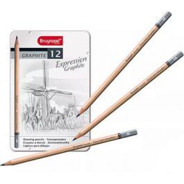 Talens σετ 12 μολύβια σχεδίου σε μεταλλική κασετίνα