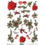 ΡΙΖΟΧΑΡΤΟ DECOUPAGE A4 (21×29,7 cm)  CHRISTMAS PICTURES 0173