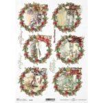 ΡΙΖΟΧΑΡΤΟ DECOUPAGE A4  CHRISTMAS – WINTER PICTURES 1472