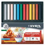 Ξηρά Παστέλ Lyra Polycrayons Soft 12 Τεμάχια