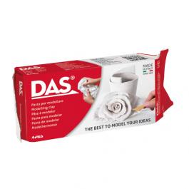Πηλός DAS 500gr λευκός, στεγνώνει όταν εκτίθεται στον αέρα.