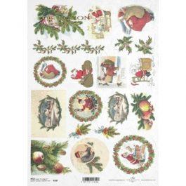 Itd. Collection Ριζόχαρτο Decoupage A4 (21X29,7 cm) Christmas Motifs – Decorations
