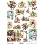 Itd. Collection Ριζόχαρτο Decoupage A4 (21×29,7 cm) Children Waiting For Christmas Gifts 0602