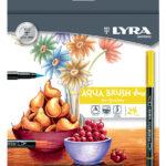 Lyra Aqua Brush Duo Μαρκαδόροι διπλής μύτης.  24τεμαχίων