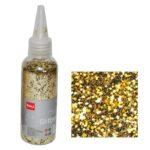 "Glitter νιφάδες 1/24"" σε μπουκάλι χρυσό 30γρ."