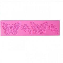 Καλούπι Σιλικόνης 19,3X6X0,5 cm 4 Πεταλούδες