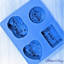 Καλούπι Σιλικόνης 21,5X18,5X3,5 cm 4 Σχήματα