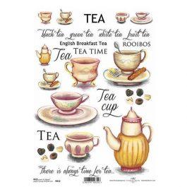 """Ριζόχαρτο Α4 """"tea red"""" 21×29εκ. (ITD-R412)"""