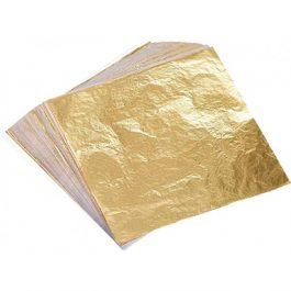 25 Φύλλα Χρυσού Imitation (Μπρουτζίνα) 14x14cm Ελεύθερο