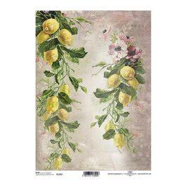 """Ριζόχαρτο """"lemons"""" 21×29εκ. (ITD-R1193)"""