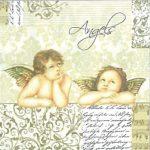 """Χαρτοπετσέτες  """"Angels"""" 33×33εκ."""