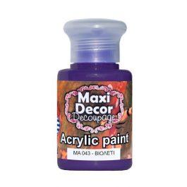 Ακρυλικά χρώματα Maxi Decor βιολετί 60ml