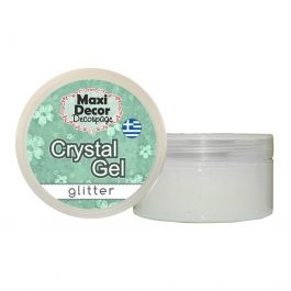 Crystal Gel με glitter, 100ml