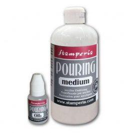 Stamperia Pouring Kit: 500ml Medium + 20ml Λάδι