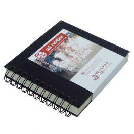 Talens Scetch book σπιράλ μαύρο 80φυλ. 15×15εκ. 110 γρ.