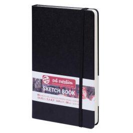 Talens Sketch book μαύρο 80φυλ. 13×21εκ. 140 γρ.