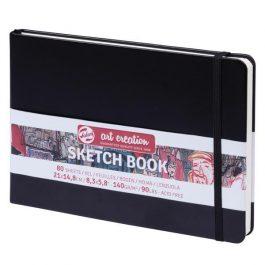 Talens Sketch book μαύρο 80φυλ. 21×15εκ. 140 γρ.