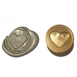 """Ορειχάλκινη Σφραγίδα Φ 2,5cm """"Καρδιά"""" για Βουλοκέρι"""