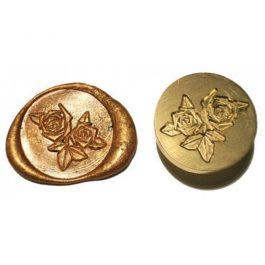 """Ορειχάλκινη Σφραγίδα Φ 2,5cm """"Roses"""" για Βουλοκέρι"""