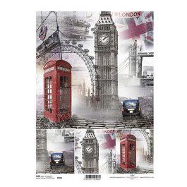 """Ριζόχαρτο """"London"""" 21×29εκ. (ITD-R841)"""