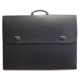 Τσάντα Σχεδίου Μαύρη 59x73x5cm με Χερούλι