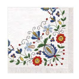 """Χαρτοπετσέτες  """"μοτίβο με λουλούδια 3"""" 33×33εκ. (SLOG 019901)"""