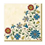 """Χαρτοπετσέτες  """"μοτίβο με λουλούδια 2"""" 33×33εκ. (SLOG 019701)"""