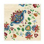 """Χαρτοπετσέτες  """"μοτίβο με λουλούδια"""" 33×33εκ. (SLOG 016901)"""