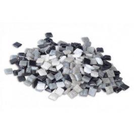 Ψηφίδες Glass Mosaic 10x10x4mm 250gr Άσπρες/Γκρι/Μαύρες