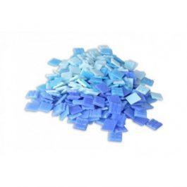Ψηφίδες Glass Mosaic 10x10x4mm 250gr Μπλε Αποχρώσεις