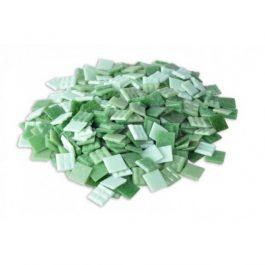 Ψηφίδες Glass Mosaic 10x10x4mm 250gr Πράσινες Αποχρώσεις