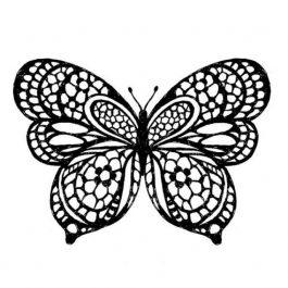 Stamperia Ακρυλική Σφραγίδα 10x10cm Πεταλούδα