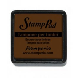 Stamperia Ταμπόν 3x3cm Καφέ