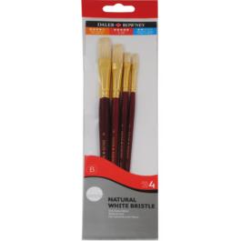 Πινέλα DALER-ROWNEY simply gold σετ 4 τεμ.για λάδια και ακρυλικά χρώματα.