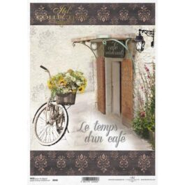 Itd. Collection Ριζόχαρτο Decoupage A4 (21×29,7cm) cm Bicycle – Cafe