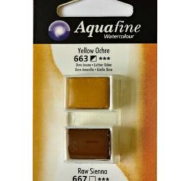 Χρώμα Ακουαρέλας DR AQUAFINE H/P BLISTER SET 17 YELL OCHRE/RAW SIENN 131017017