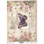 Itd. Collection Ριζόχαρτο Decoupage A4 (21×29,7cm) cm Flowers – Butterfly