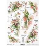 Itd. Collection Ριζόχαρτο Decoupage A4 (21×29,7cm) cm Flowers and I love You