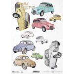 Itd. Collection Ριζόχαρτο Decoupage A4 (21×29,7cm) cm Old Cars